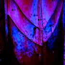 Abstract Metal blue red by schiabor