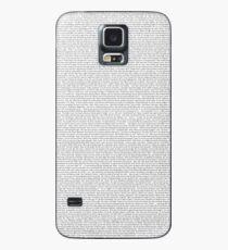 entire shrek script Case/Skin for Samsung Galaxy