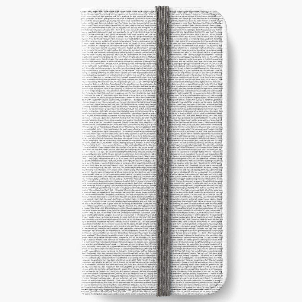 entire shrek script iPhone Wallet