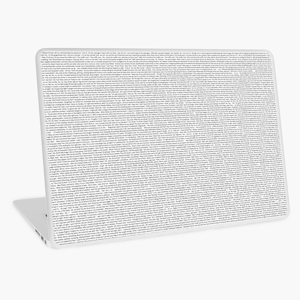 entire shrek script Laptop Skin