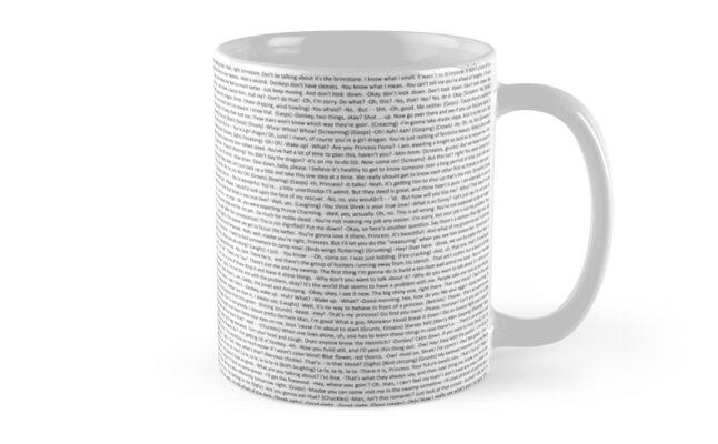 Entire Shrek Script Mug by Jijarugen