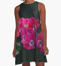 Antiqued Paprika Country Roses in Chicago Botanical Garden A-Line Dress