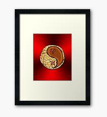 Aries & Tiger Yang Wood Framed Print