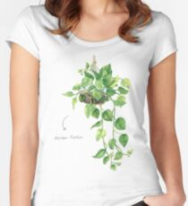 Golden Pathos - [Indoor Plant Love] Fitted Scoop T-Shirt