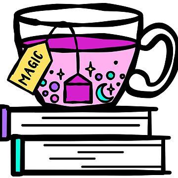 Tee und Bücher sind Magie. Magischer Tee. Hexenmeister Brew. von tachadesigns