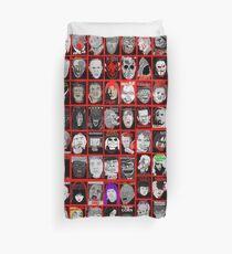 Faces of Horror Collage art Duvet Cover