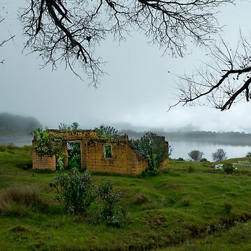 Abandoned Mud Hut In The Fog In The Andes by alabca
