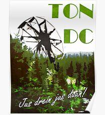 Die 100 - Vintage Travel Poster (Ton DC) Poster