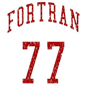 FORTRAN 77 - Red/White Design for Veteran Programmers by geeksta