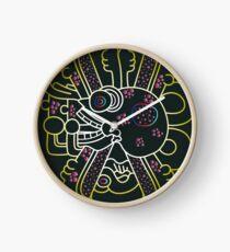 Aztec Skull Graphic Clock