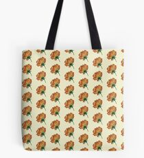 Single rose bloom in yellow and orange Tote Bag