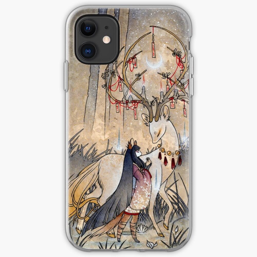 The Wish - Kitsune Fox Deer Yokai iPhone Case & Cover