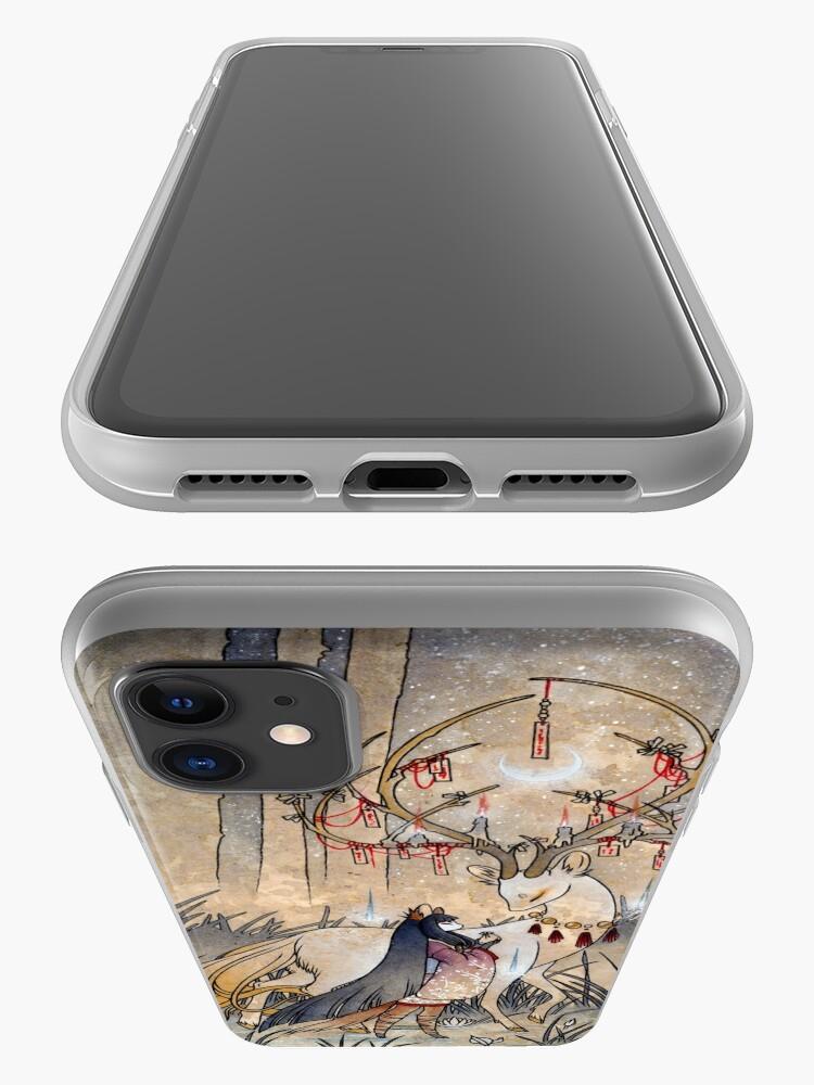 Alternate view of The Wish - Kitsune Fox Deer Yokai iPhone Case & Cover