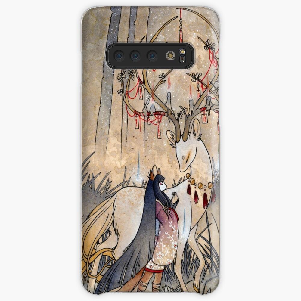 Der Wunsch - Kitsune Fox Deer Yokai Hüllen & Klebefolien für Samsung Galaxy
