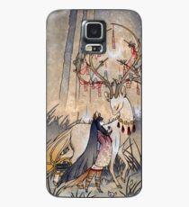 Der Wunsch - Kitsune Fox Deer Yokai Hülle & Klebefolie für Samsung Galaxy