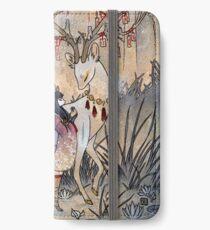 Der Wunsch - Kitsune Fox Deer Yokai iPhone Flip-Case/Hülle/Klebefolie