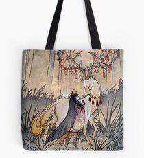 The Wish - Kitsune Fox Deer Yokai Tote Bag