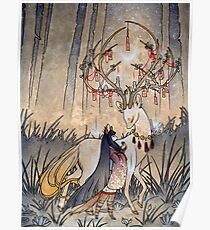 The Wish - Kitsune Fox Deer Yokai Poster