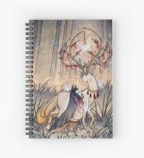 Cuaderno de espiral El deseo - Kitsune Fox Deer Yokai