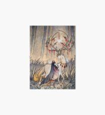The Wish - Kitsune Fox Deer Yokai Art Board Print