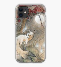 Fox & Wisps - Kitsune Yokai Foxfire  iPhone Case