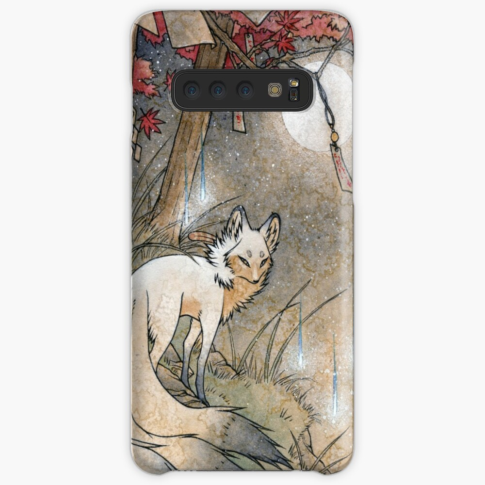 Fox & Wisps - Kitsune Yokai Foxfire  Case & Skin for Samsung Galaxy