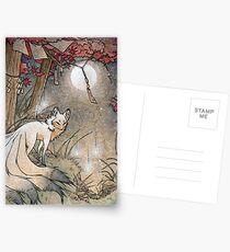 Fox & Wisps - Kitsune Yokai Fuchsfeuer Postkarten