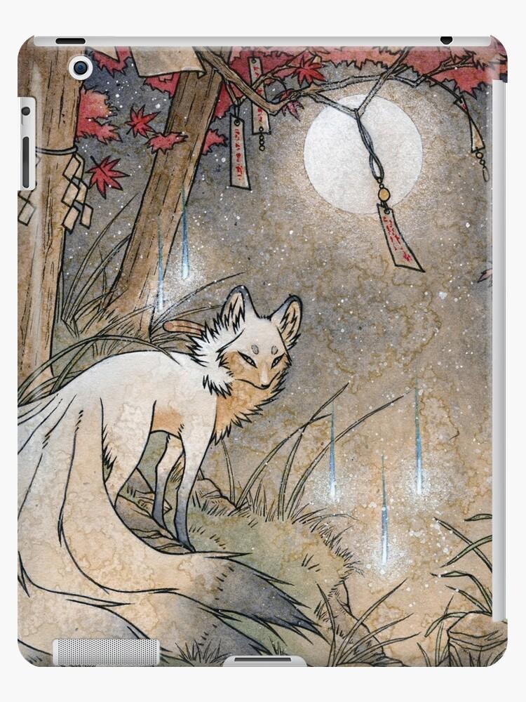 Fox & Wisps - Kitsune Yokai Fuchsfeuer von TeaKitsune