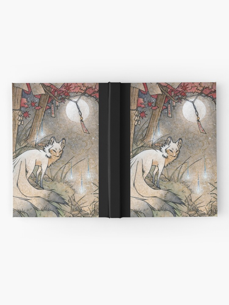 Alternate view of Fox & Wisps - Kitsune Yokai Foxfire  Hardcover Journal