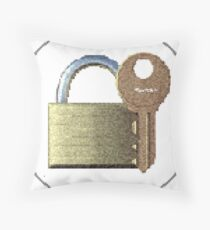Securitii emoji 1 by RootCat (gold one) Floor Pillow