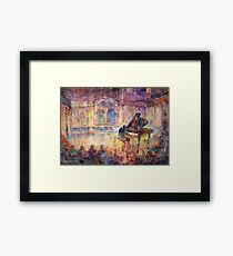 Piano Recital - Classical Pianist In Concert Framed Print