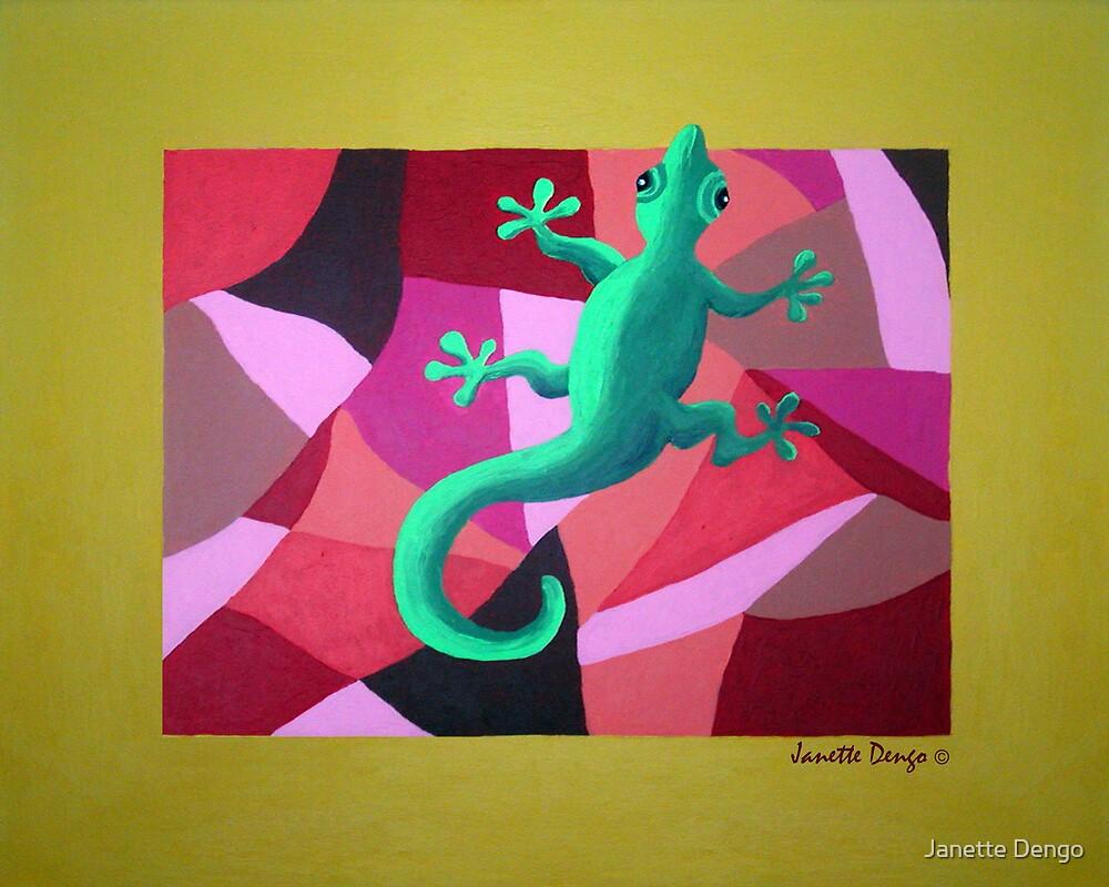 GREEN LIZARD by Janette  Dengo