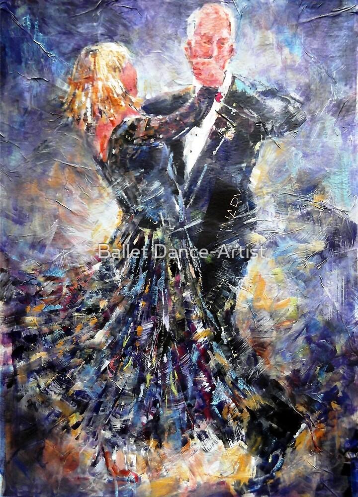 Ballroom Dancing Art Gallery - Elegant Couple by Ballet Dance-Artist