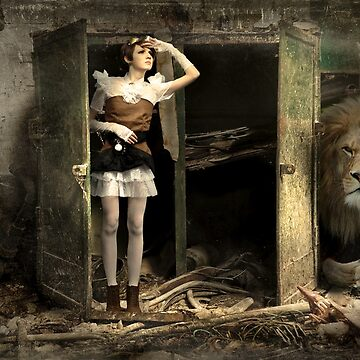 Steam Punk Lion And Girl No. 2 by StephanieBrock