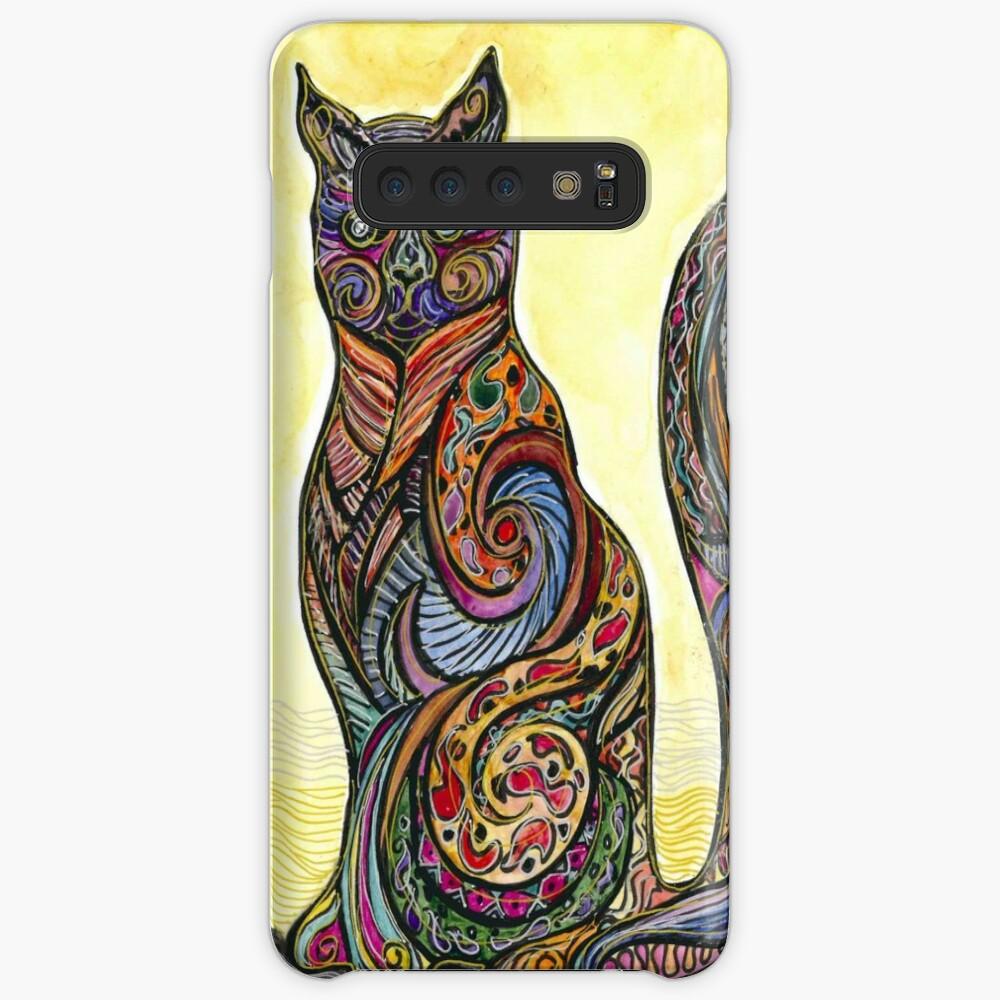 Cat of Many Colors Funda y vinilo para Samsung Galaxy