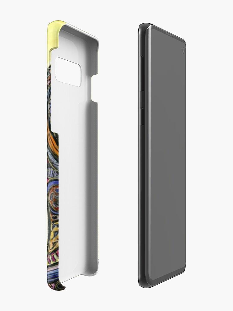 Vista alternativa de Funda y vinilo para Samsung Galaxy Cat of Many Colors