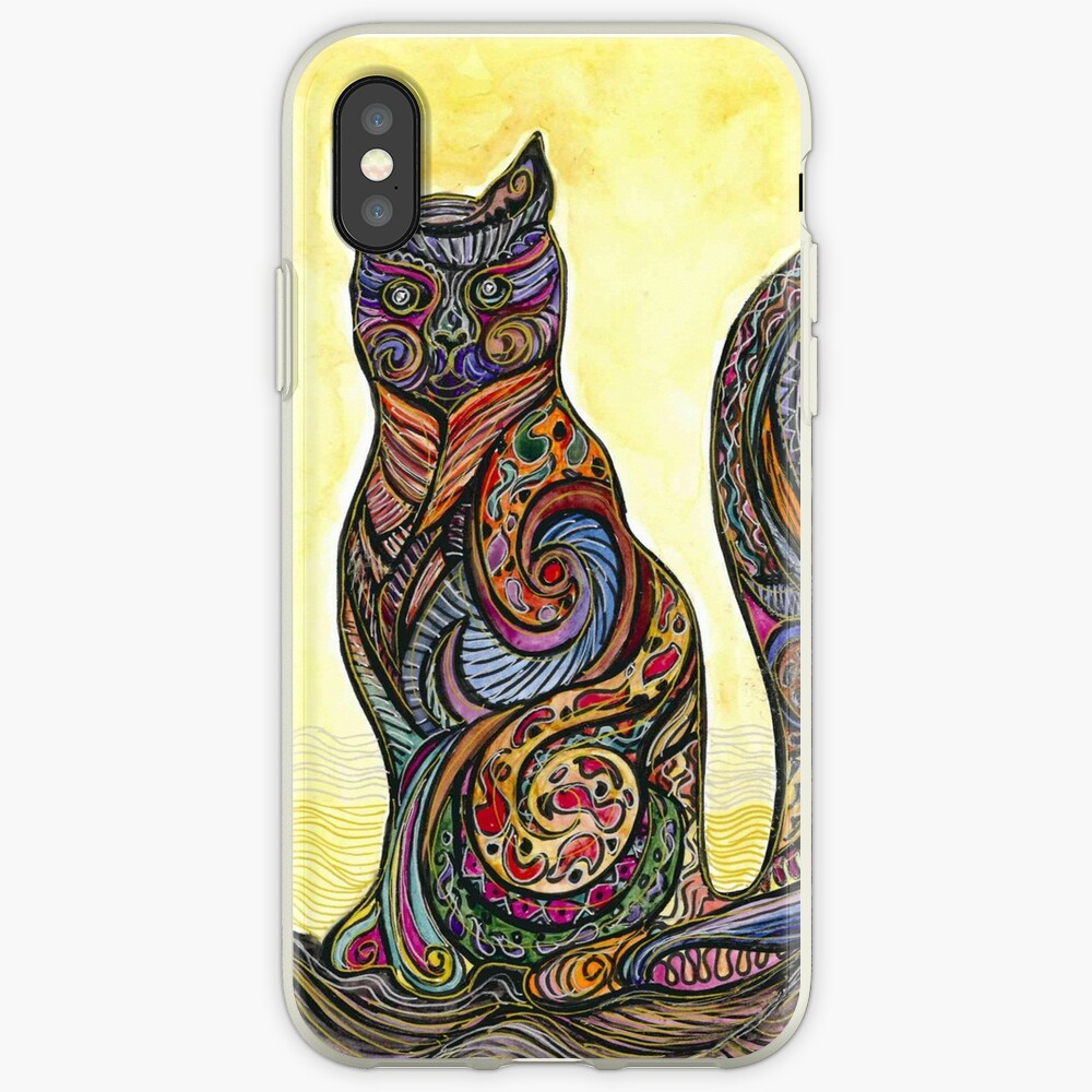Cat of Many Colors Funda y vinilo para iPhone