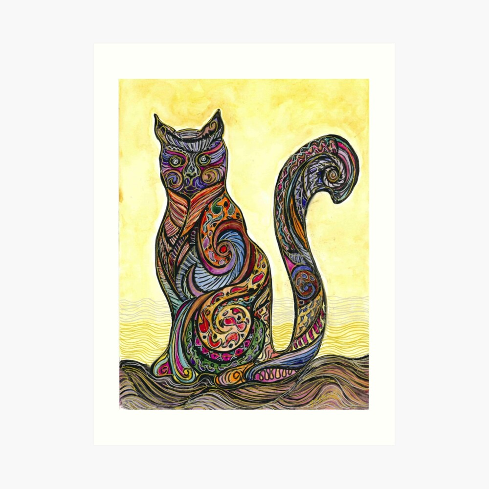 Cat of Many Colors Lámina artística