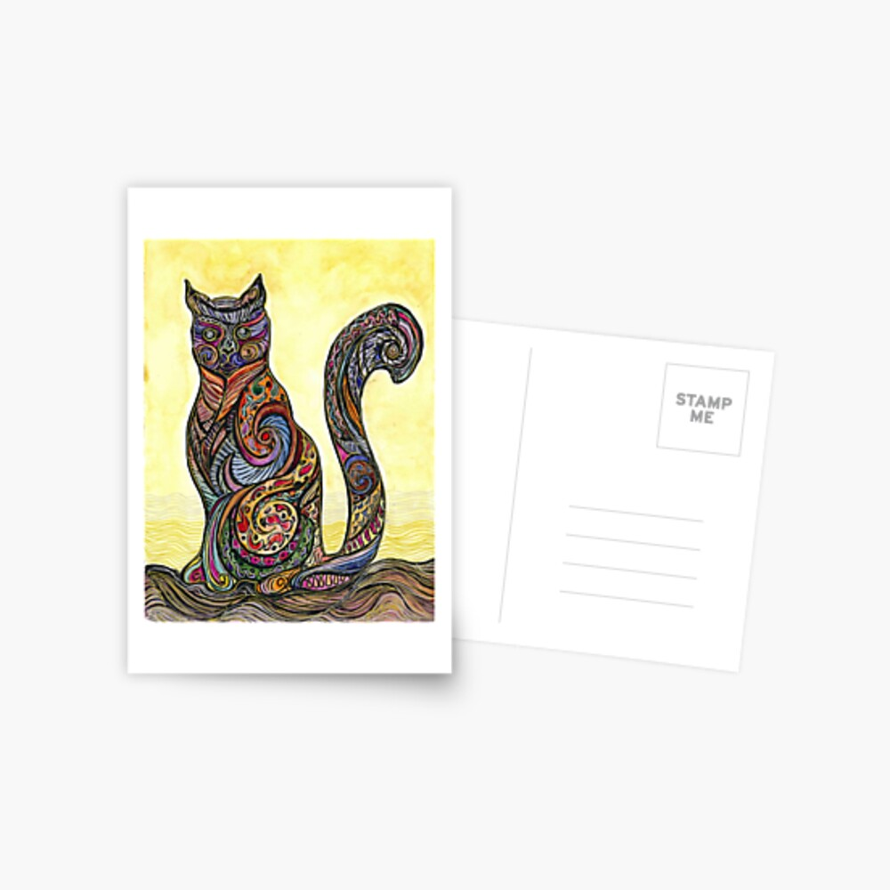 Cat of Many Colors Postal