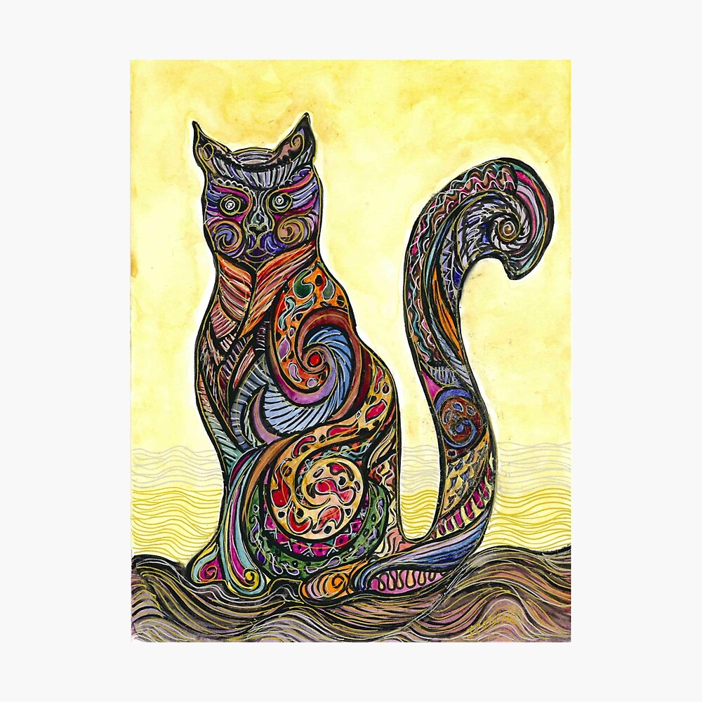 Cat of Many Colors Lámina fotográfica