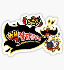 Chinesischer Huhn-Käse-heiße u. Würzige Nudel-Karikatur Sticker