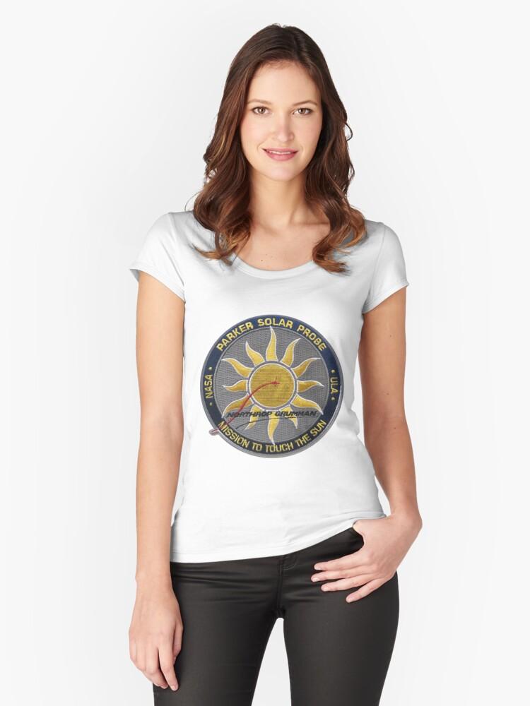 Parker Solar Probe - Northrop Grumman Patch Women's Fitted Scoop T-Shirt Front