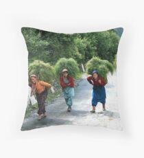 The women of Garhwal Himalaya Throw Pillow