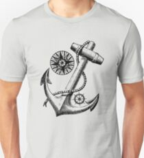 Vintage Nautical Anchor Design Unisex T-Shirt