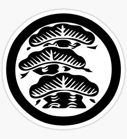 Araedahidarisankaimatsu Kamon Sticker