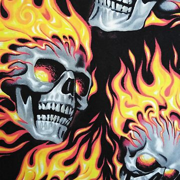 Flaming Skull by CrazyCraftLady