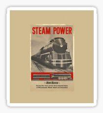 Steam Power Vintage Train Sticker