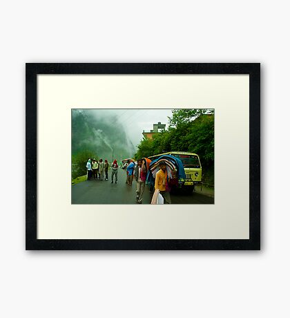 The Cool Morning at Pandukeshwar Framed Print
