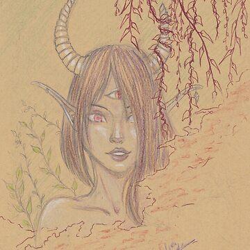 «Démone dans la brume» par Omelia-Plude