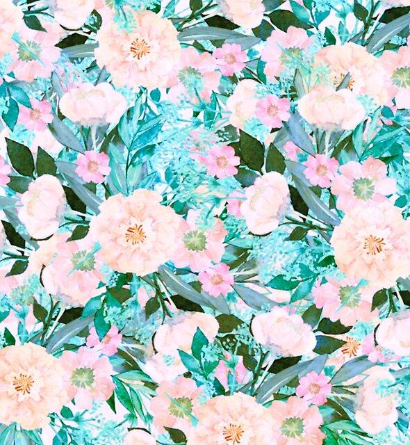 Türkis und rosa Blumen von clemfloral